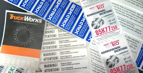 Nameplate labels carry the brand and are highly resistant
